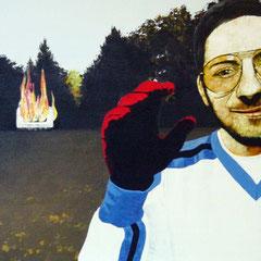 der Zwischenfall, 1998, Acrylic on Canvas, 50 x 80 cm