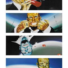 Der Inhalt, 2000, Acryl auf Leinwand, a 30 x 80 cm