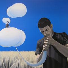 der Aufbruch, 2009, Oil on Canvas, 90 x 120 cm