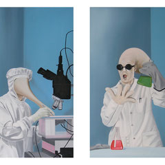 Angewandte Wissenschaft 01-02, 2015, Oil on Canvas, a 50 x 30 cm