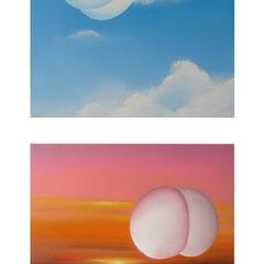 Sinnkoerper_01-02, 2011, Oil on Canvas, a 40 x 40 cm