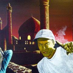 whateverman, 1999, Acrylic on Canvas, 80 x 120 cm