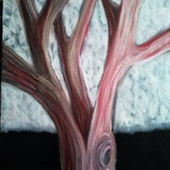 Baum 2 - Oelpastellkreide auf Leinwand - 2013