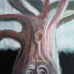Baum 1 - Oelpastellkreide auf Leinwand - 2013
