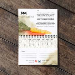 Der Wachsende Kalender 2020 Vergessene Sorten. September: Karotte Jaune du Doubs.