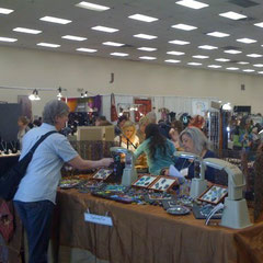 Show floor at the Denver Merchandise Mart for the Rocky Mountain Bead Society annual sale