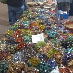 Mountains of Czech glass strands