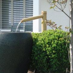 Brunnenanlage mit einfach Einlaufrohr