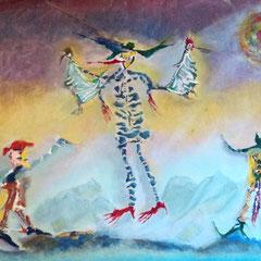 Títeres de Bolivia .:. Oleo sobre tela - 60x44 - 2010