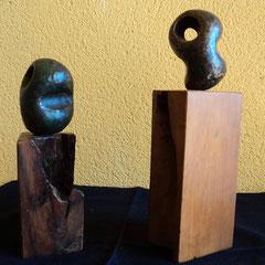 Caín y Abel .:. Bronce y madera - Altura: 20cm - 1999