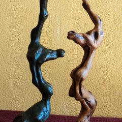 El Ciervo Desertor .:. Madera y Bronce - Altura: 33cm - 2001