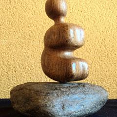 La Palliri .:. Madera y piedra - Altura: 17cm - 2000