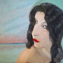 Laura, Mar y Cielo .:. Oloe sobre tela - 38x46 - 2013