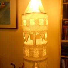 Lámpara Griega - 85cm de largo, 24cm de diámetro
