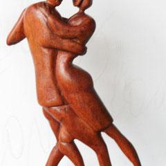Tango del Avispa Rosas .:. Madera - Altura: 30cm - 1999