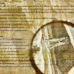plaquette Ocre (verso, plis fenêtres en 3 volets)