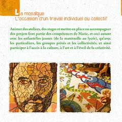 plaquette D'émaux et des gestes (verso, plis roulés en 3 volets)