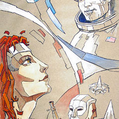 "Illistration: Ray Bradbury ""Die Mars-Chroniken"""