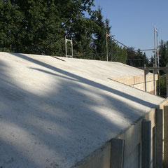 Einfamilienhaus in Pullach mit Stahlbetonsatteldach, Architektur: http://www.hornig-reiss-noe.de/hrn.htm