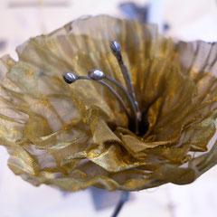 Fleur tulle de laiton