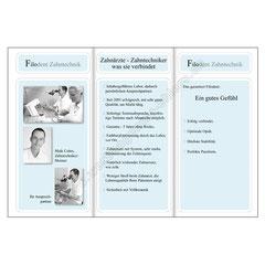Prospekt, Filodent Zahntechnik, Seiten 2+3+4.