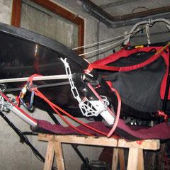 Gut zu sehen: die Bremsketten; Foto: U. Topsnik