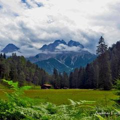 Blick auf das Mieminger Gebirge