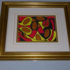 75. Schilderij met Gouden Randje, ↨ 34 cm ↔ 40 cm, € 55