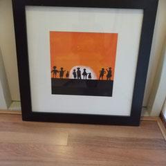 Zonsondergang inclusief lijst 58 x 58 cm € 69