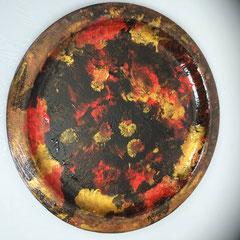 Ronde glazen schaal, doorsnede 35 cm, € 39