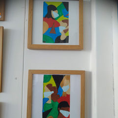 2 lijstjes 25 x 25 cm Mondkapjesplicht samen € 45