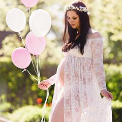 Babybauchfotos Schwangerschaftskleid
