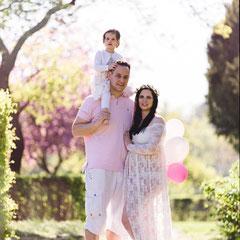 Familienfotos zur Kirschblütenzeit