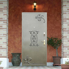Дверь с ковкой.