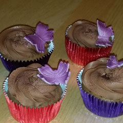 Cupcakes chocolate butterfly