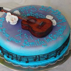 Geburtstagstorte Gitarre