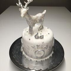 Hirsch Geburtstagstorte, deer birthday cake