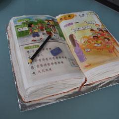 Chinesisches Schulbuch Torte, chinese school book cake
