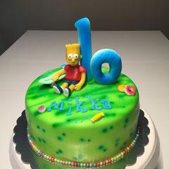 Bart Simpson Geburtstagstorte