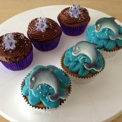 Cupcakes Bärli und Delfin