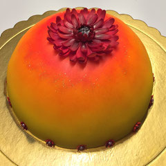 Abendrot-Blume Geburtstagstorte
