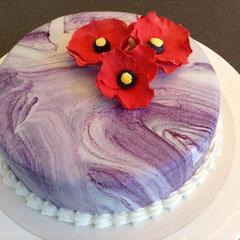 Torte Mohnblüten