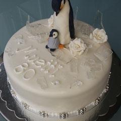 Pinguin Torte