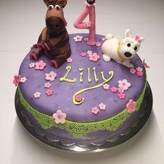Pony und Hund Geburtstagstorte