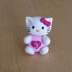 Caketopper Fimo Hello Kitty zum Behalten als Andenken