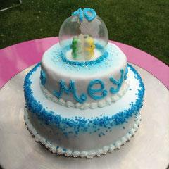 Geburtstagstorte Gummibärli in der Glaskugel (essbar!)