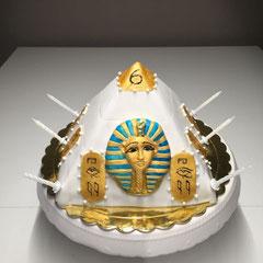 Tut ankh amun pyramid birthday cake
