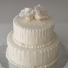 Hochzeitstorte weiss, wedding cake white
