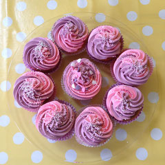 Cupcakes double color swirl