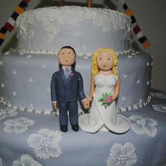 Zuckerfiguren Hochzeitstorte Sarah und Ivan